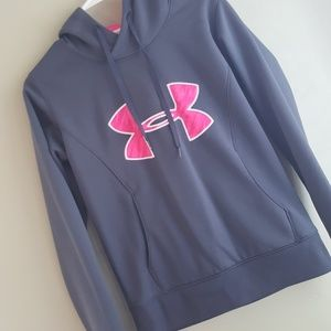 Under Armour Gray and Pink Hoodie